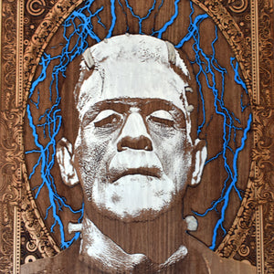 Frankenstein Monster Wooden Poster