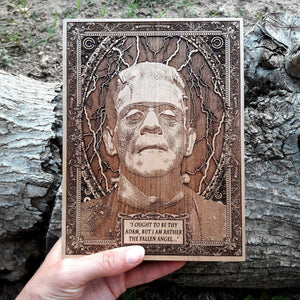 Frankenstein Monster Mini Wooden Poster