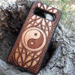 Load image into Gallery viewer, Yin and Yang Wood Phone Case