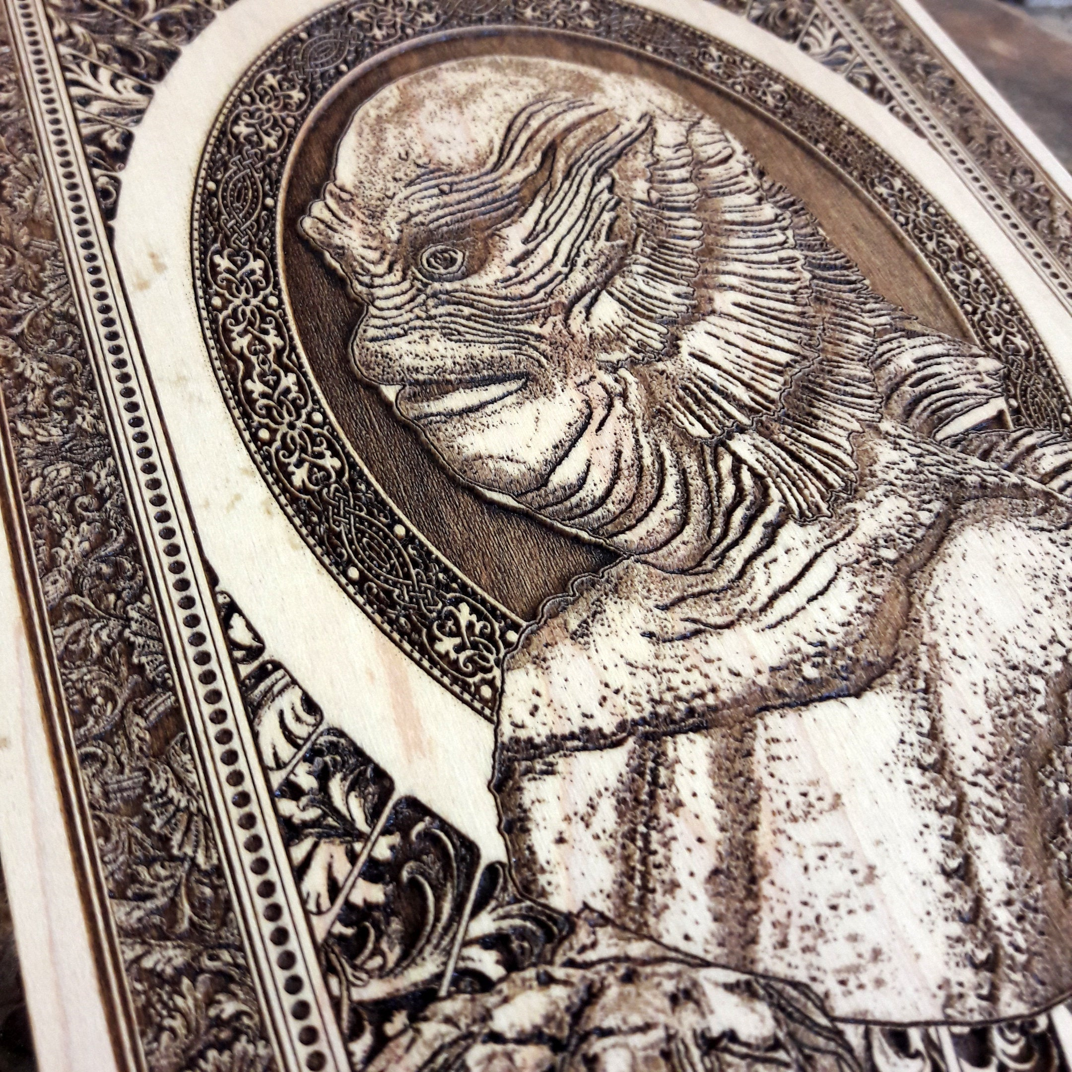 Creature from the Black Lagoon Mini Woodcut