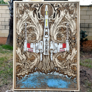 Star Wars X Wing Poster Hand Painted