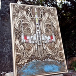Load image into Gallery viewer, Star Wars X Wing Poster Hand Painted