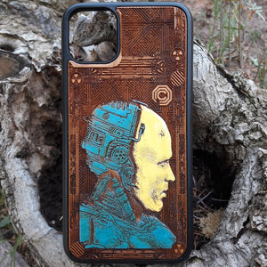 robocop phone case wood