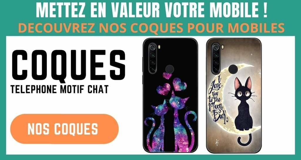 Coques mobiles chat