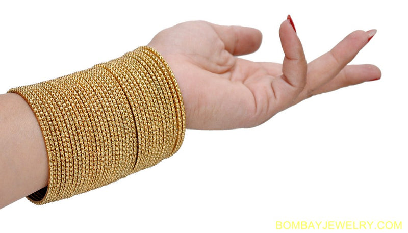 set of 36 golden bangles-L