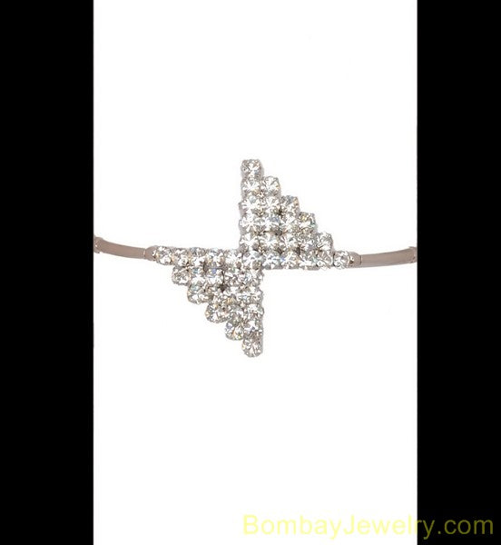 silverplated diamond armlet