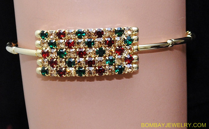 goldplated marron, green and golden diamond armlet