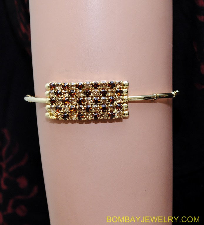 goldplated brown diamond armlet