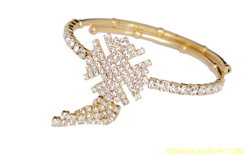 goldplated white diamond armlet