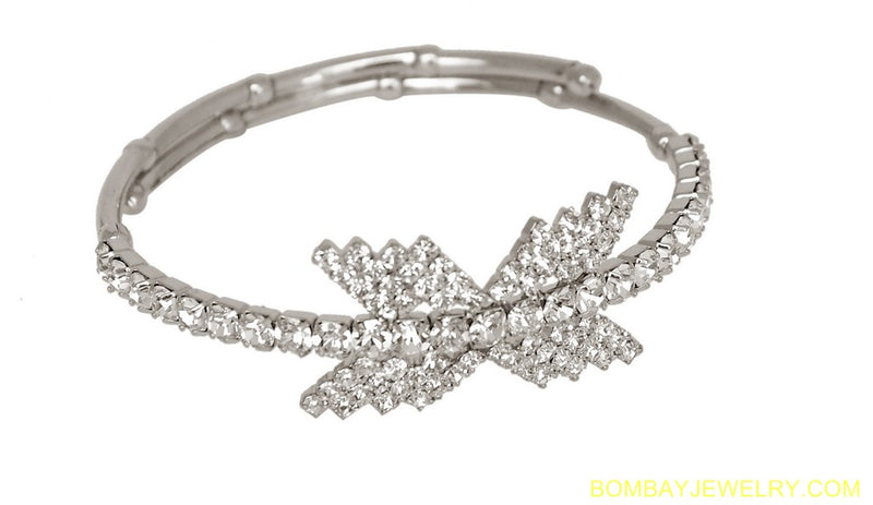 silverplated white diamond armlet