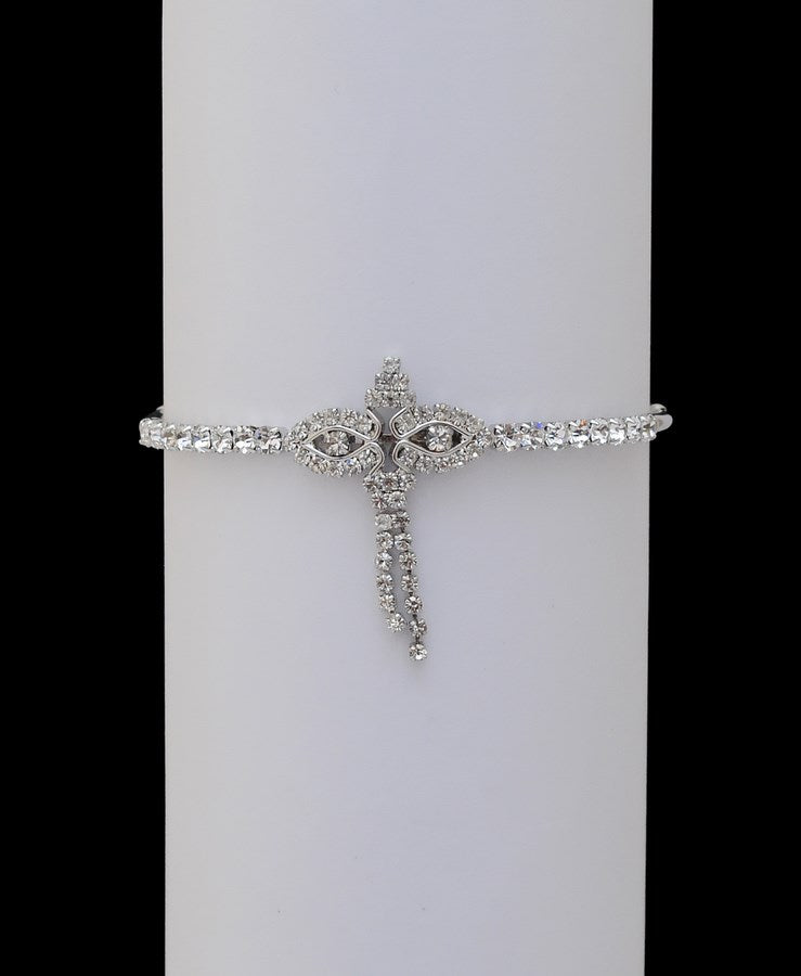 Silverpolish white diamond armlet-11
