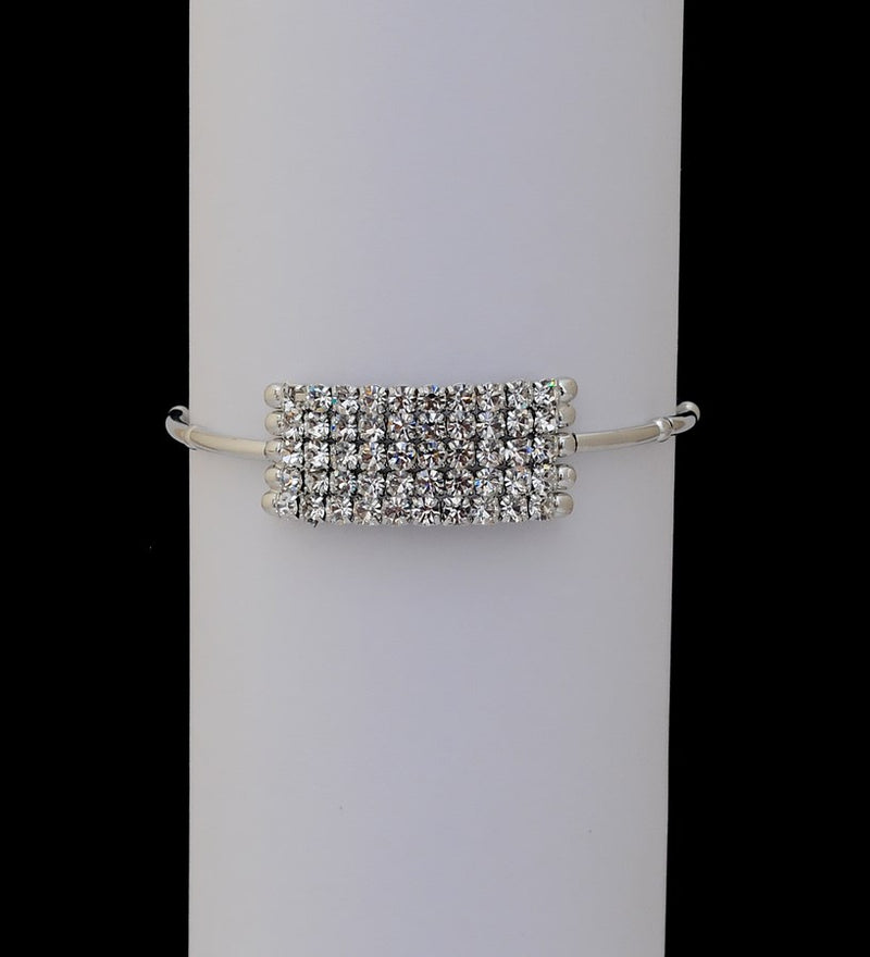 Silverpolish white diamond armlet-12