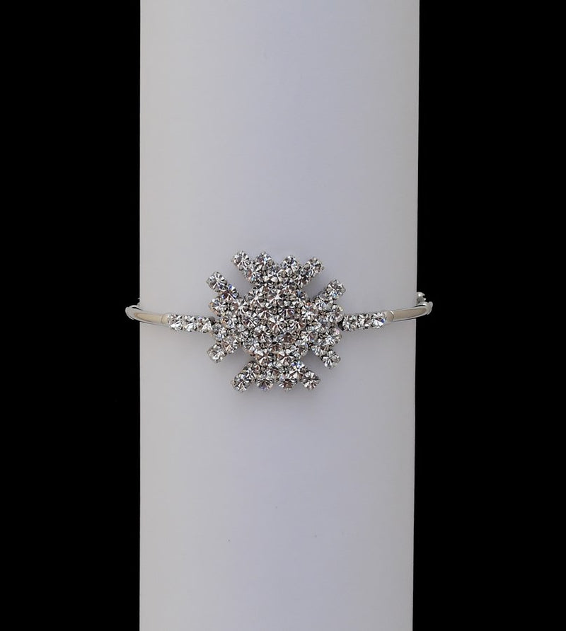 Silverpolish white diamond armlet-15