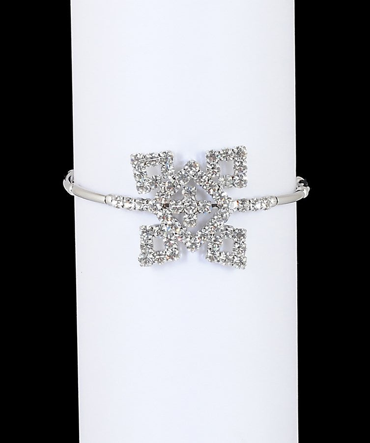 Silverpolish white diamond armlet-17