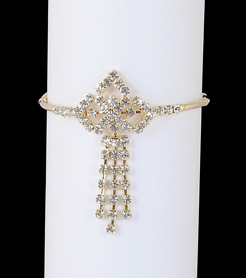 Goldpolish white diamond armlet-22
