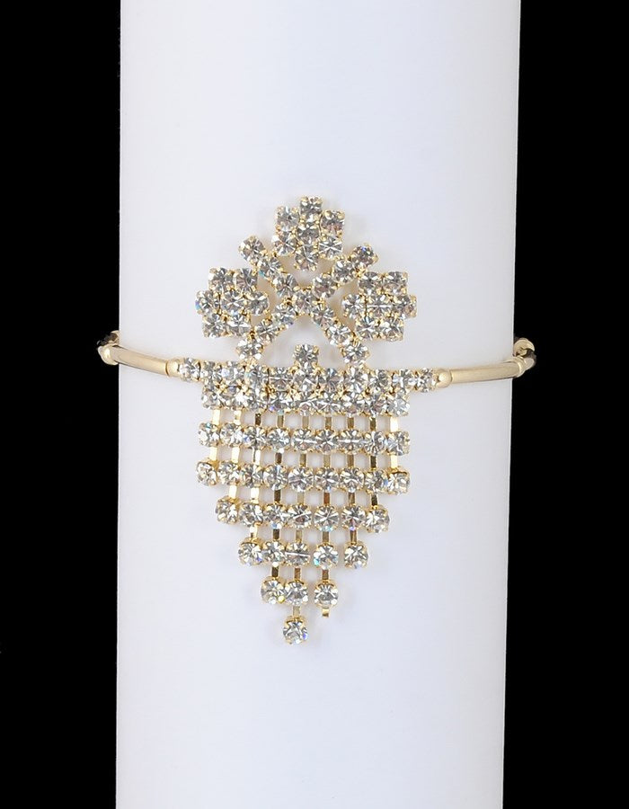 Goldpolish white diamond armlet-23