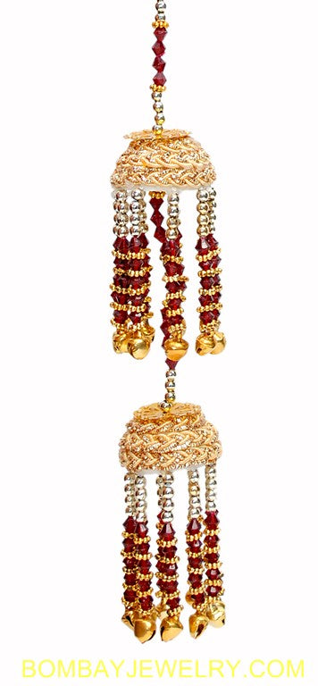 beautiful maroon and golden bridal kalira- each