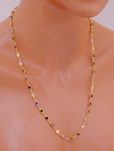 Goldpolish multicolored chain-1072-11.8""