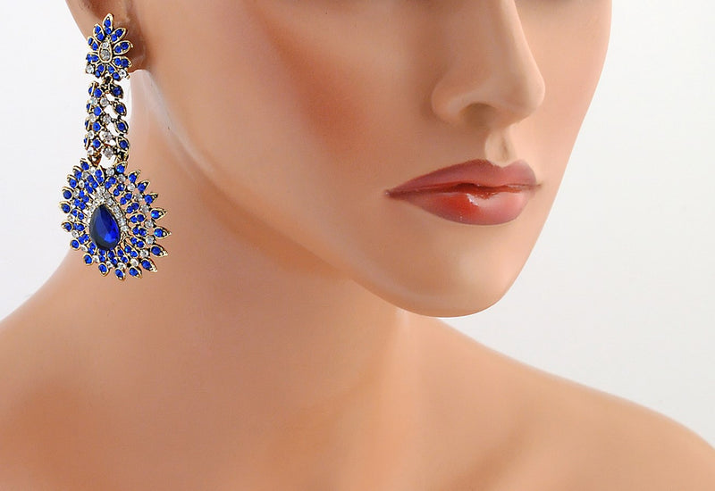 Goldpolish white diamond earring-110