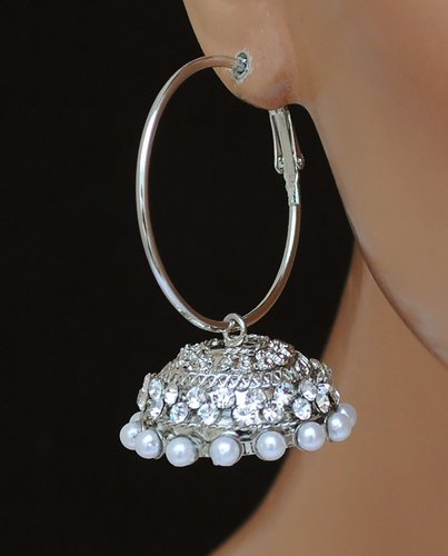 silverpolish white earring-2476