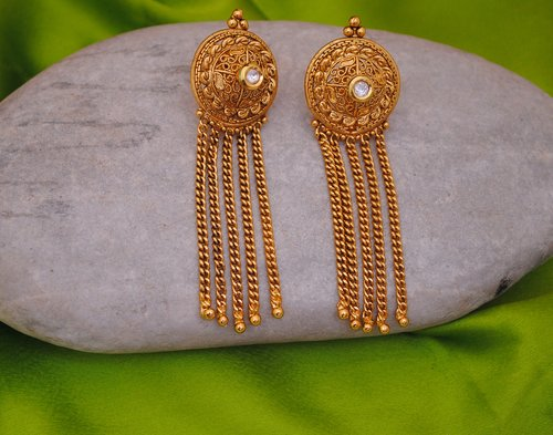 goldpolish white earring-2645