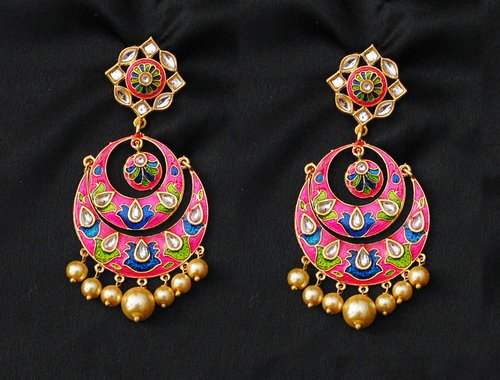 Goldpolish muliticolour Earring-2839