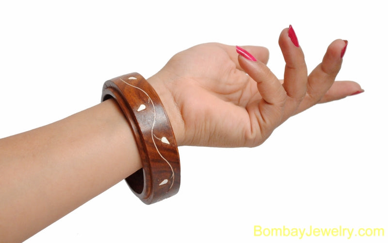 brown wood bangle