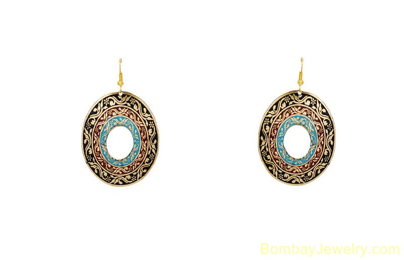 blue fashion earring