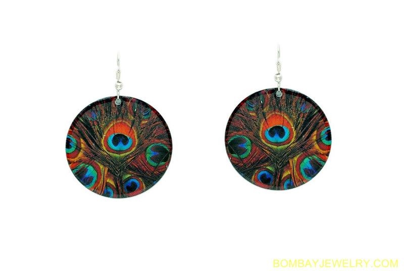MULTICOLOUR PEACOCK EARRING