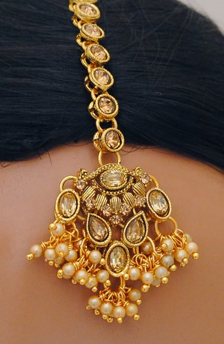 Goldpolish golden kundan set-2226