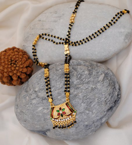 Goldpolish multicolor mangalsutra-11.5 inches