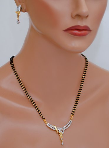 Goldpolish black mangalsutra-12""