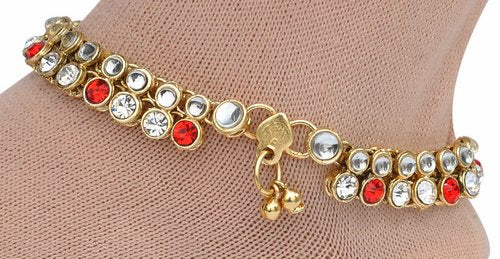 red and golden anklet-1208