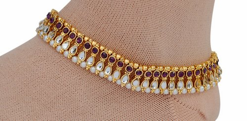 golden and purple anklet-1211