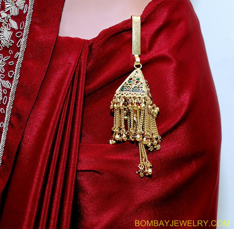 goldplated multicolour saree key chain