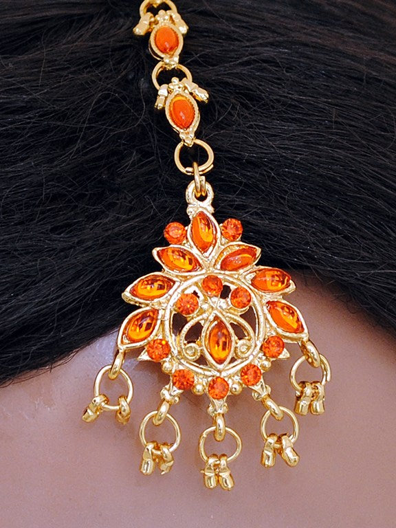 Orange head piece tikka