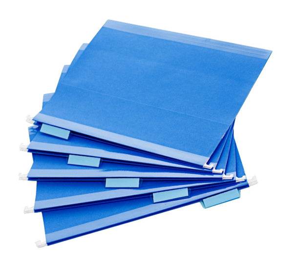 Blue Hanging File Folders