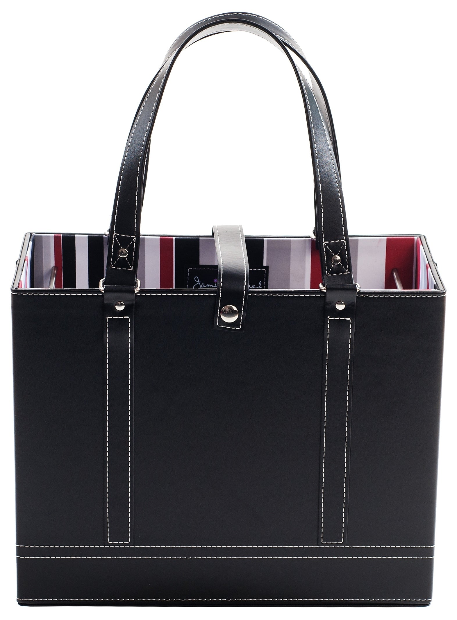 Black File Tote front view