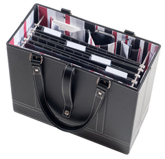 Black File Tote with hanging file folders