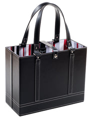 Black File Tote angle view