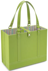 Lime File Tote angle view