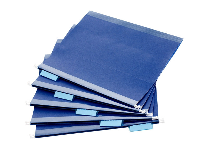 Navy Hanging File Folders