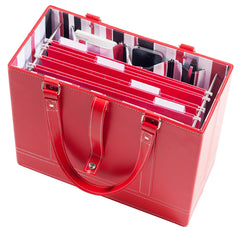 Ruby File Tote with hanging file folders