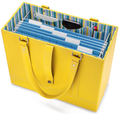 Sunflower File Tote with hanging file folders