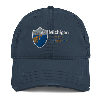 Michigan Bridge Academy Distressed Hat (3.0)