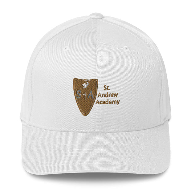 St. Andrew Academy White Structured Twill Cap