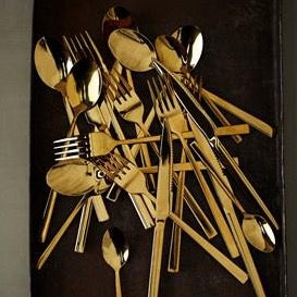 Shiny Gold Cutlery Set