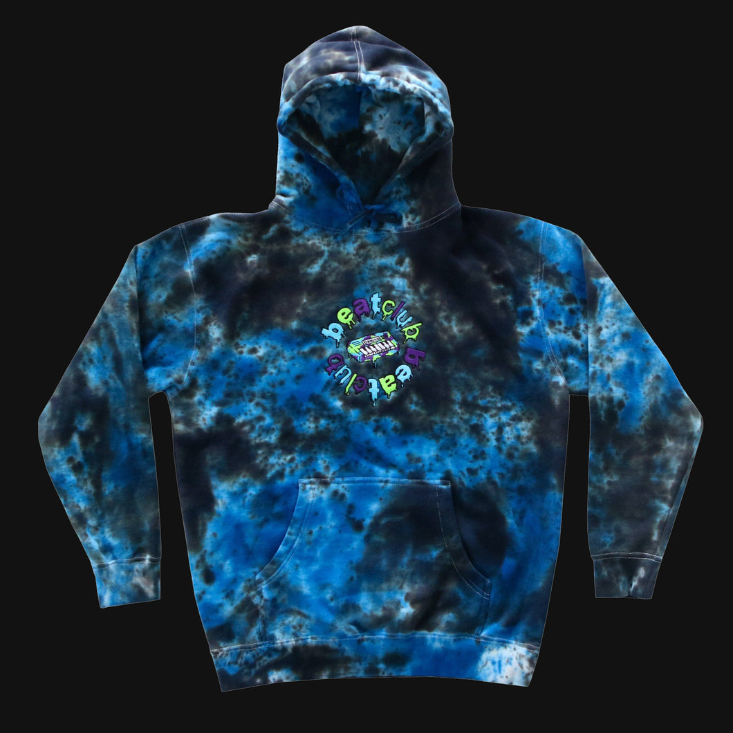 Embroidered Blue Hoodie