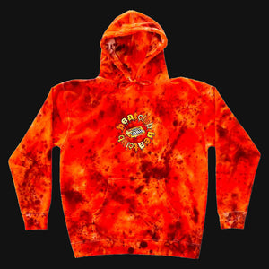 Embroidered Orange Hoodie