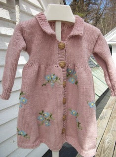 Buddie Sweaters Girls toddler coat dress in soft pink merino wool
